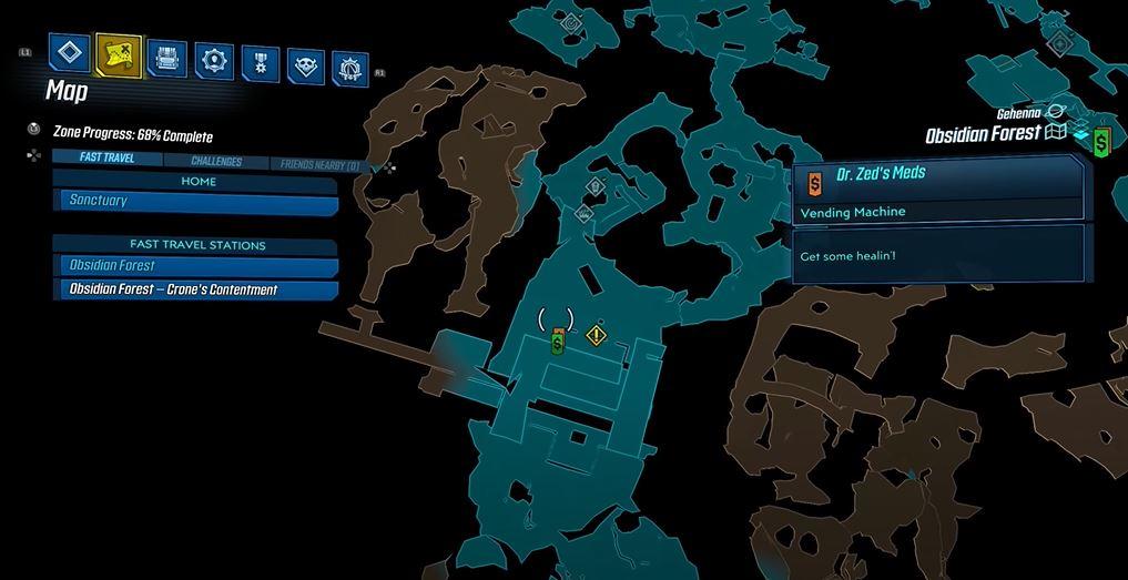 Borderlands 3 Spade ubicación