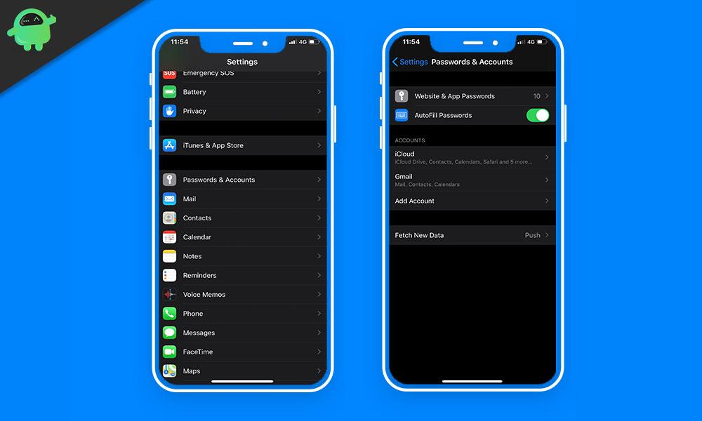 Cómo ver todas las cuentas y contraseñas en iPhone y iPad