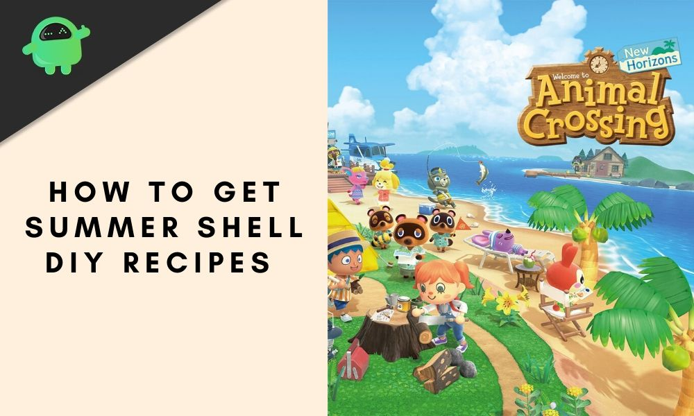 Summer Shells DIY Crafting Recipes and How To Get - Animal Crossing: New Horizons