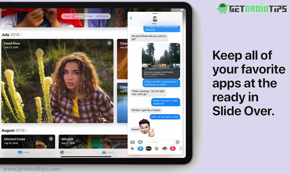 Cómo abrir una aplicación y cambiar entre aplicaciones deslizantes en su iPad