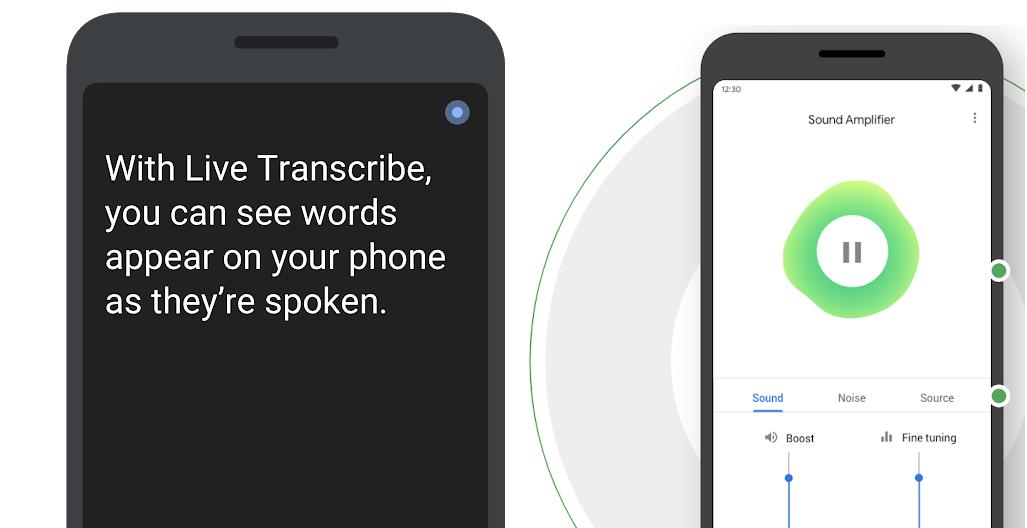 Descargue las aplicaciones Live Transcribe y Sound Amplifier para personas con problemas de audición
