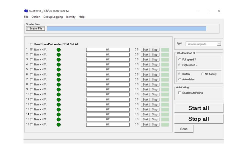Cómo utilizar la herramienta BirdA MDT para actualizar el firmware del stock