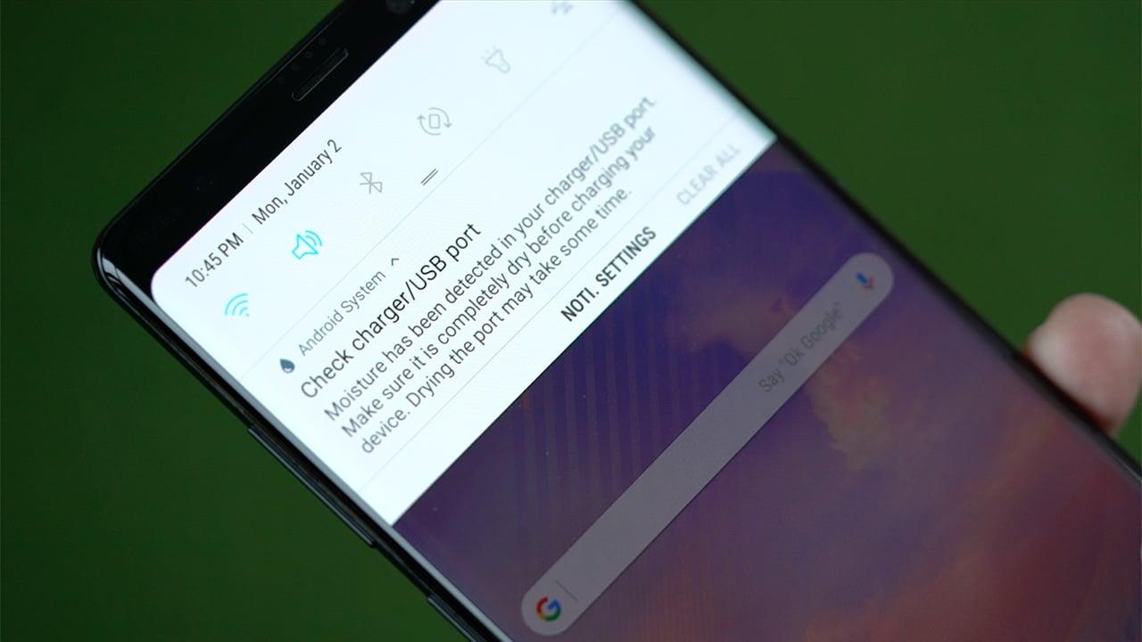 Se ha detectado la corrección de humedad Error en dispositivos Samsung Galaxy