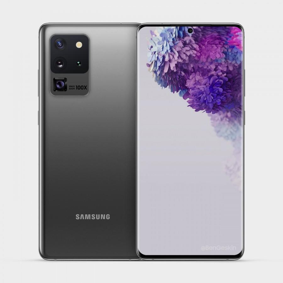¡Ya están disponibles los últimos renders de alta definición de Samsung Galaxy S20 Ultra 5G!