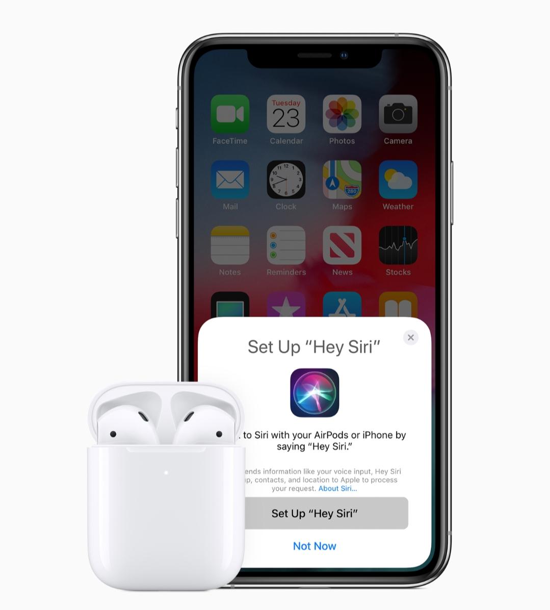 Nuevos Airpods de Apple lanzados con Siri y carga inalámbrica