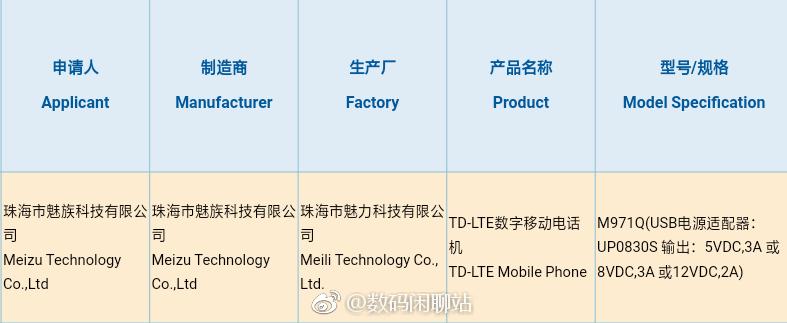 ¡El nuevo teléfono Meizu pasa la certificación 3C con carga rápida de 24W!