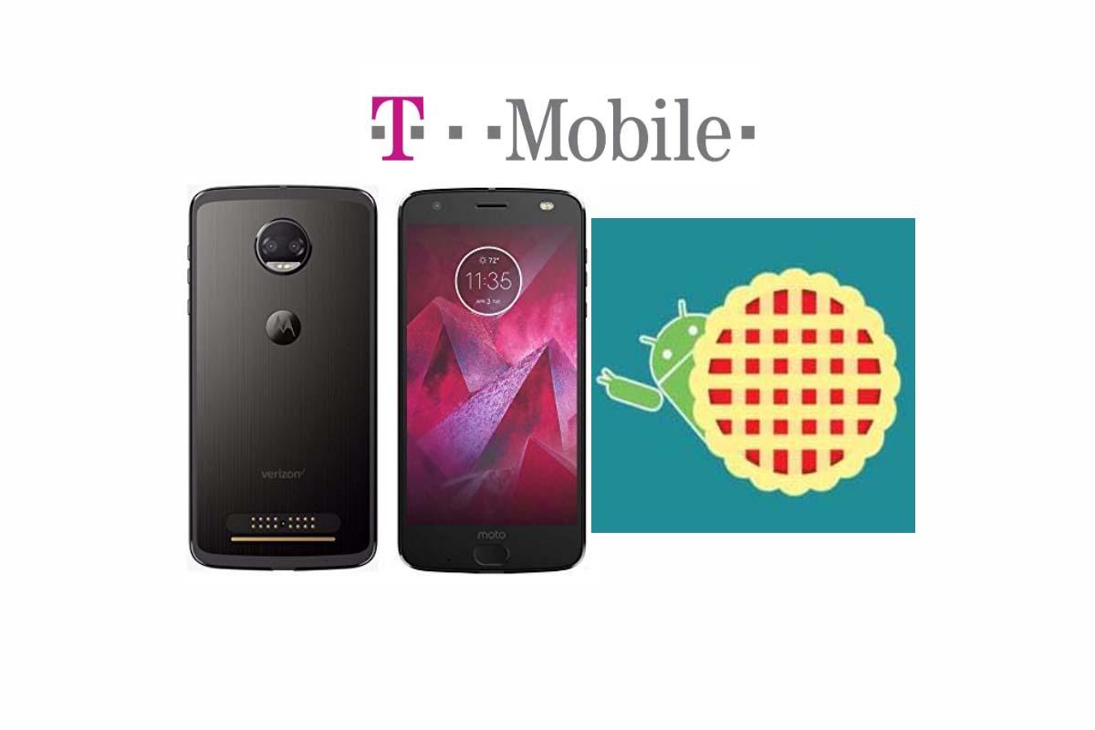 T-Mobile Motorola Moto Z2 Force Android 9.0 Pie Actualización en desarrollo