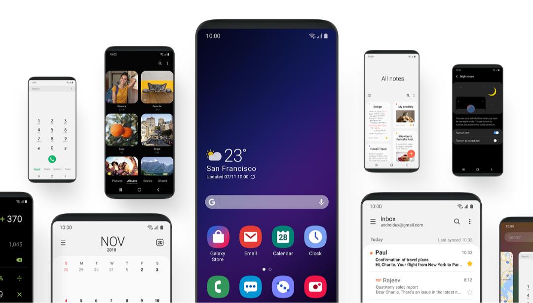 Una interfaz de usuario llegará a más teléfonos inteligentes Samsung Galaxy en 2019