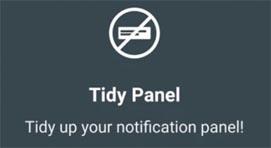 Cómo eliminar notificaciones persistentes del panel usando TidyPanel [APK Download]