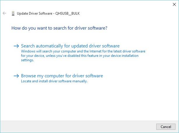 seleccione Buscar mi computadora para el software del controlador
