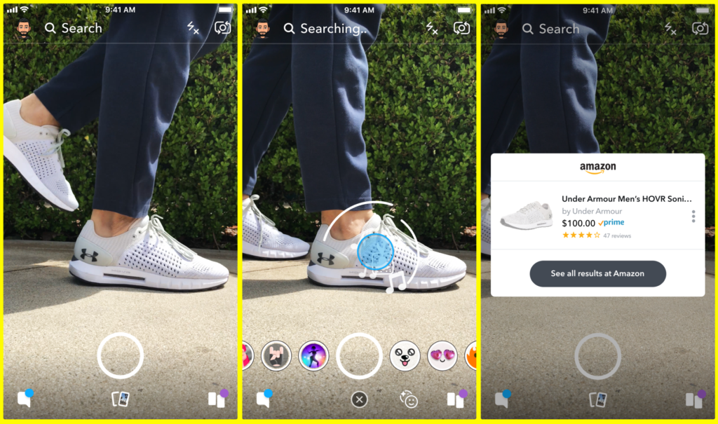 Snapchat Adds Shop on Amazon Feature