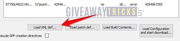 haz clic y carga xml
