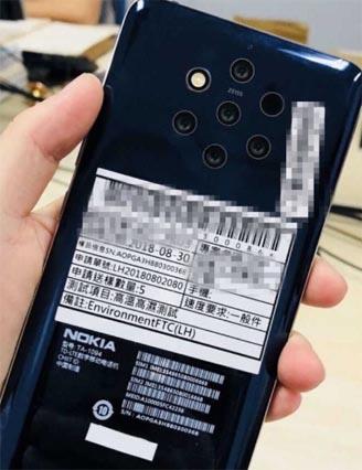 Nokia 9 Live Image se escapa para revelar cinco cámaras traseras
