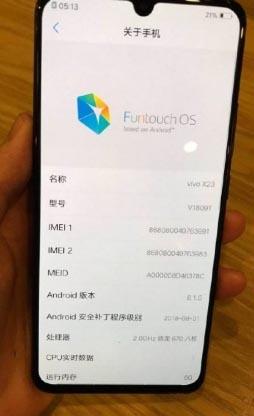 Fecha de lanzamiento de Vivo X23