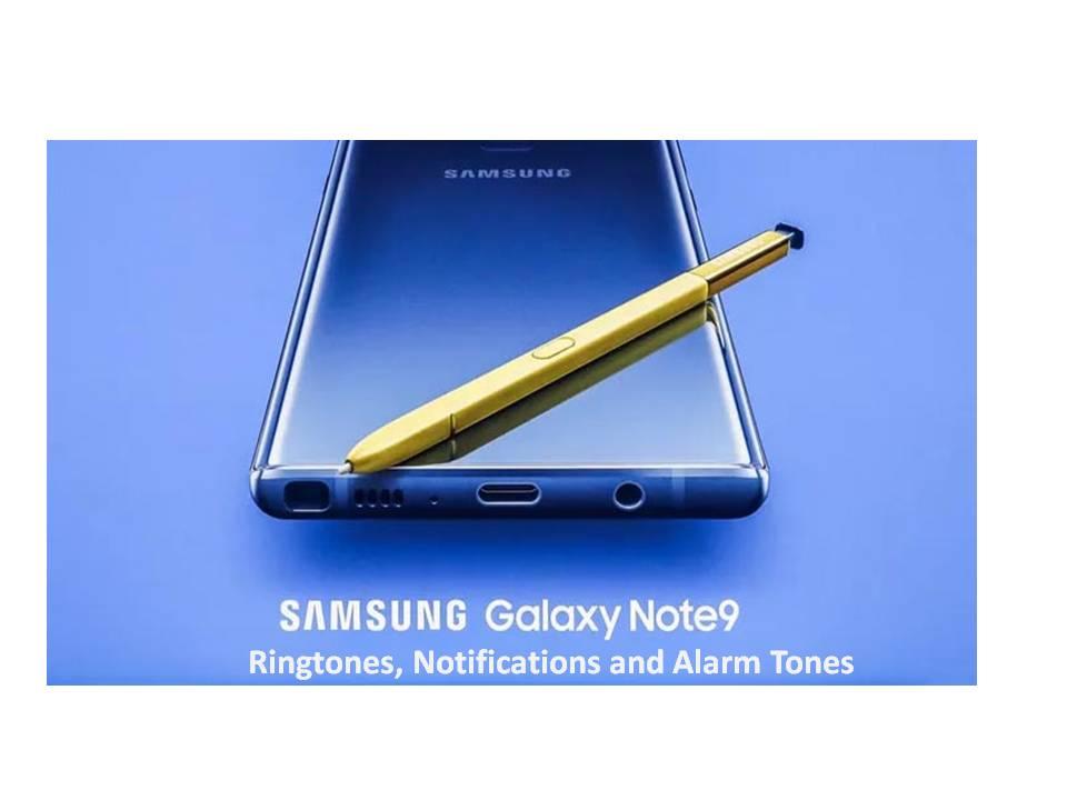 Tonos de llamada, notificaciones y tonos de alarma de Samsung Galaxy Note 9