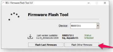 Flash otro firmware