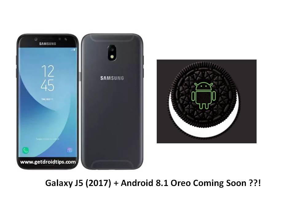 Samsung Galaxy J5 (2017) puede obtener Android 8.1 Oreo Treat pronto