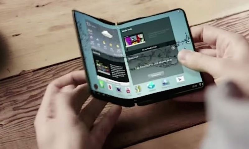 Samsung adquiere patente para teléfono inteligente plegable y transparente