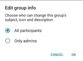 Función de grupo de restricción de WhatsApp