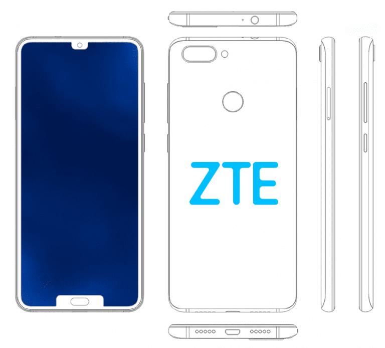 Dos muescas mejor que una: ZTE patenta un teléfono inteligente más con dos muescas en la pantalla