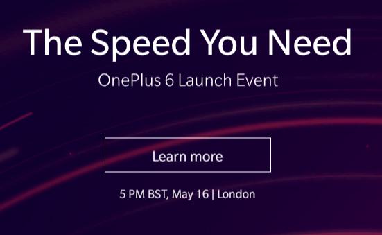 OnePlus 6 se lanzará el 16 de mayo en Londres