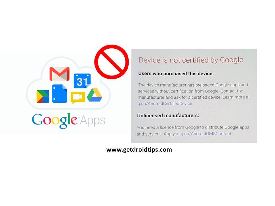 Google bloquea GApps en dispositivos no certificados: cómo omitir