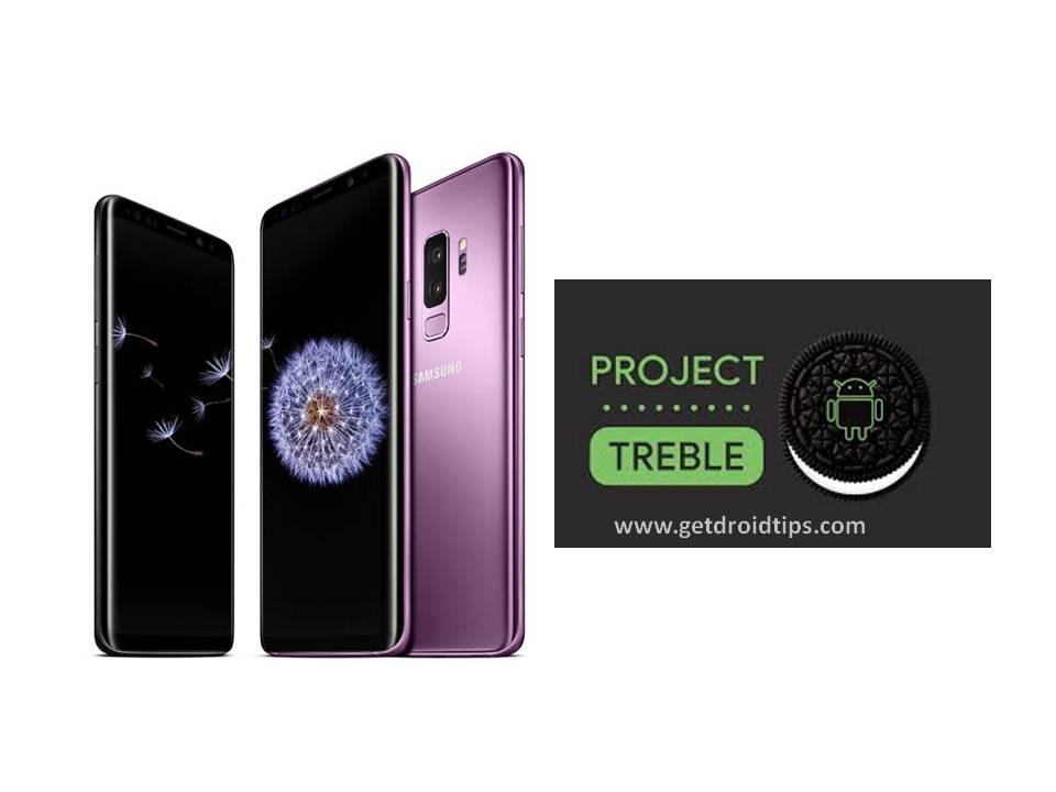 Samsung Galaxy S9 AOSP 8.0 Oreo Project Treble ahora está rodando
