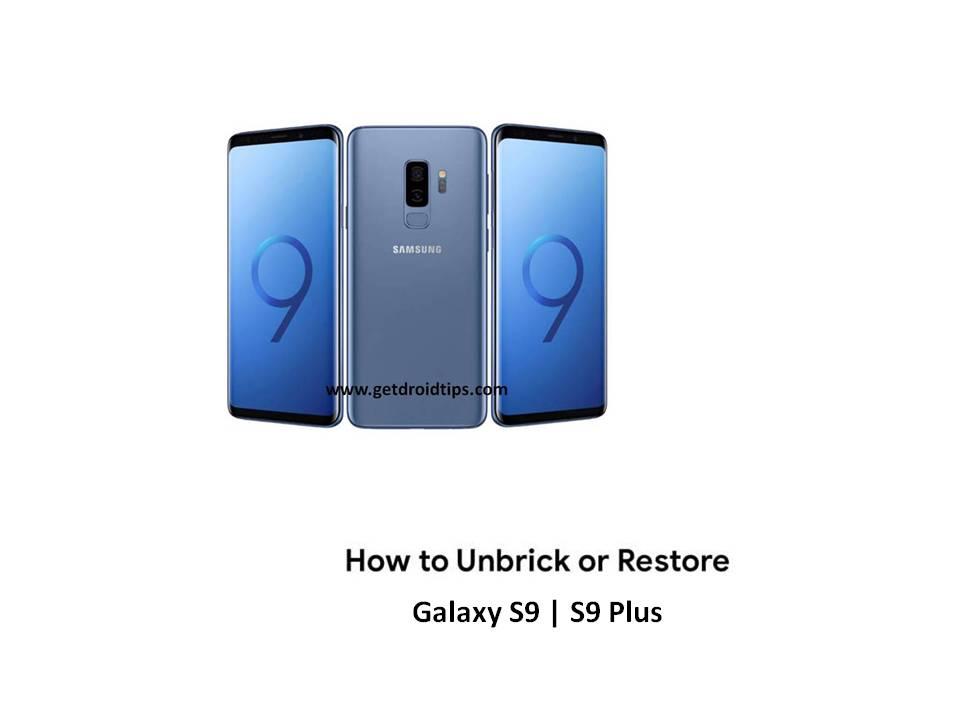 Cómo restaurar o desbloquear Galaxy S9 y S9 Plus