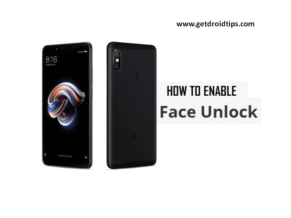 Cómo habilitar la función de desbloqueo facial Redmi Note 5 Pro[Latest OTA]