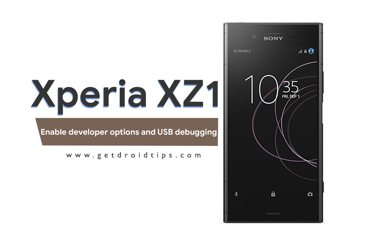 How to enable developer options and USB debugging on Xperia XZ1