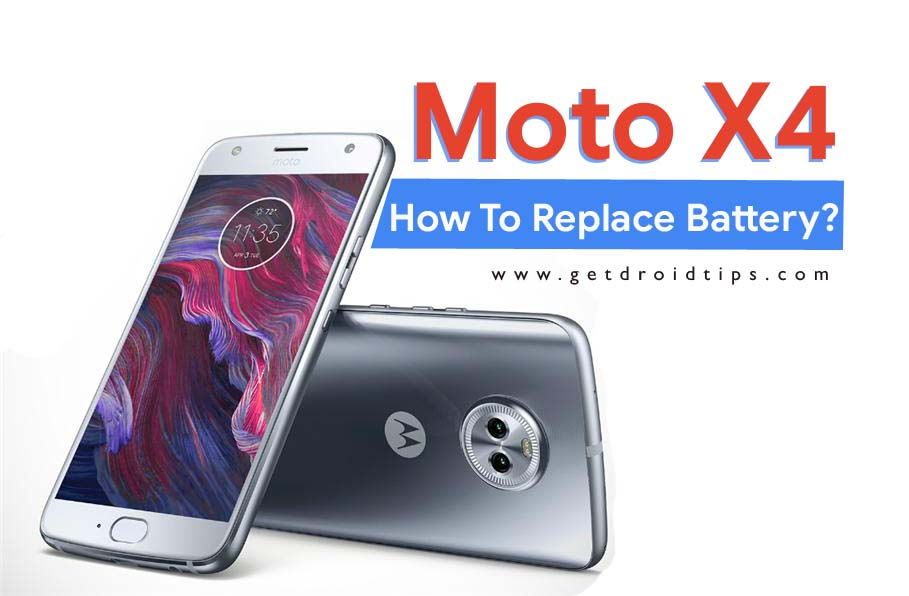replace battery of moto X4