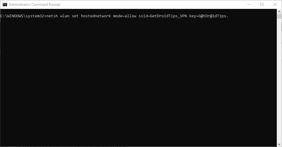 Crear red alojada virtual - Windows CMD