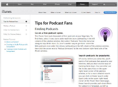 podcast do iTunes