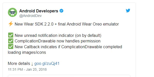 Android Wear 2.9