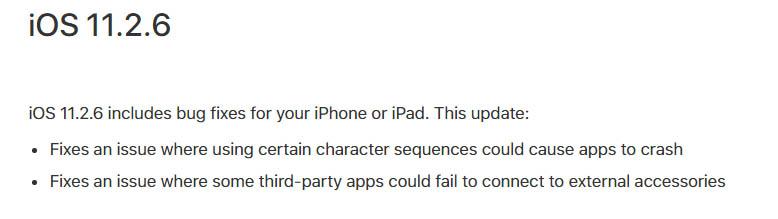 Apple iOS 11.2.6