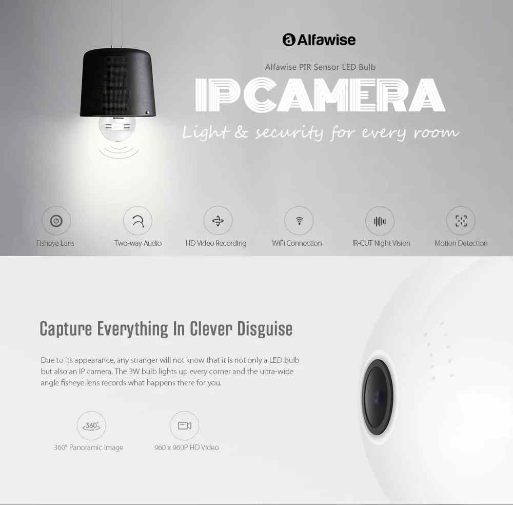 Alfawise T8610 IP Camera Bulb - Worth it? Check the Cool Offer