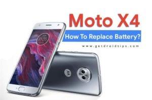reemplazar la batería de moto X4