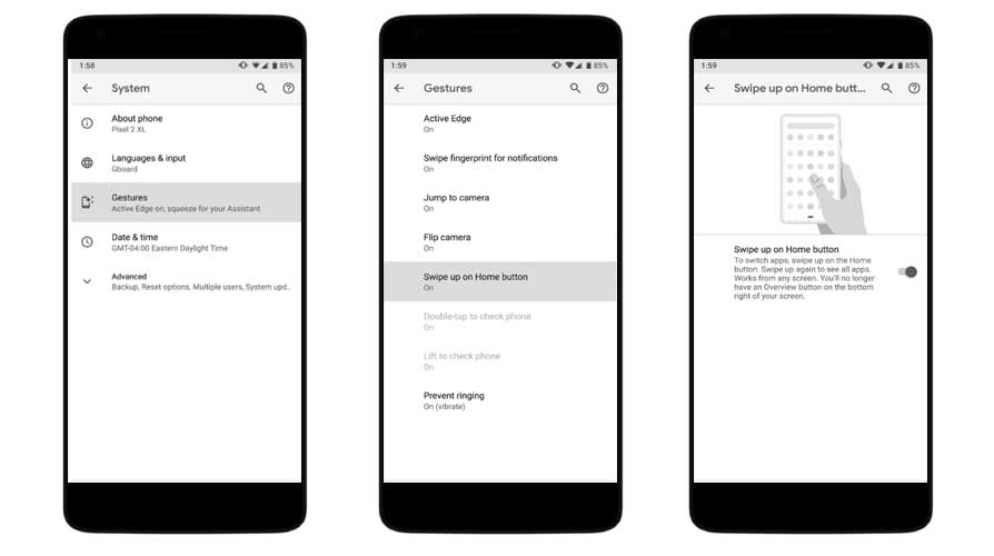 How to activate and use Gesture Navigation on Android Pie
