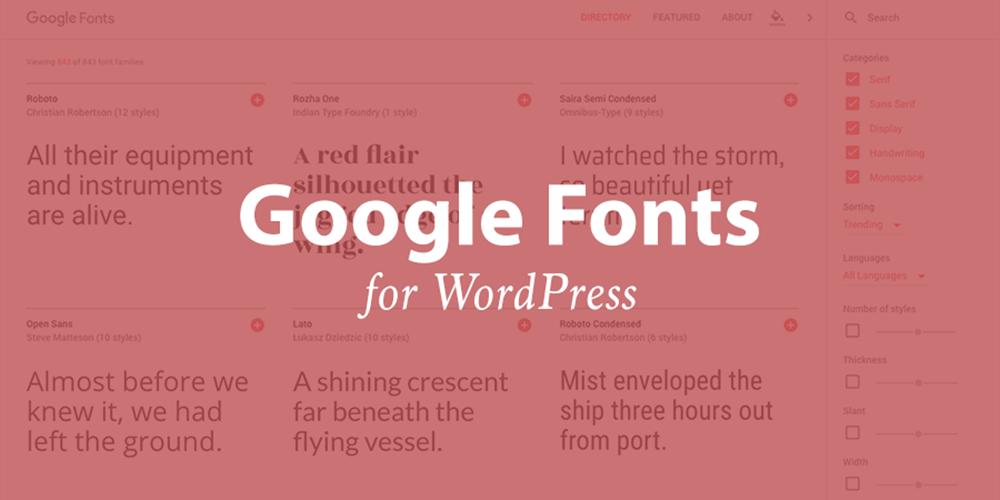 Como adicionar fontes do Google ao WordPress 1