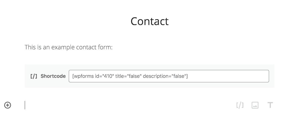 WPForms prístupový kód pridaný do príspevku