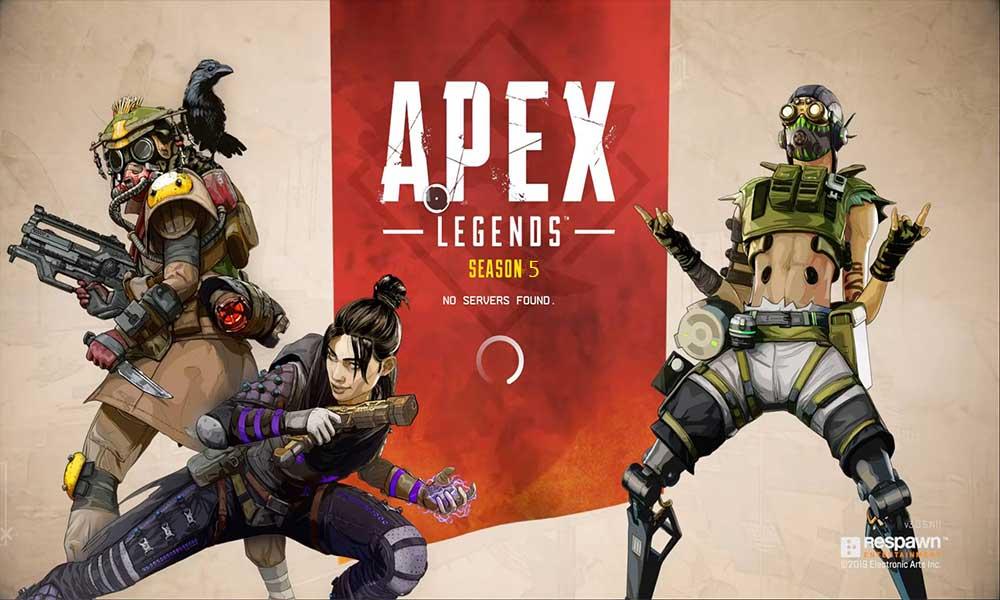 Cómo arreglar Apex Legends No se encontró ningún error en el servidor?