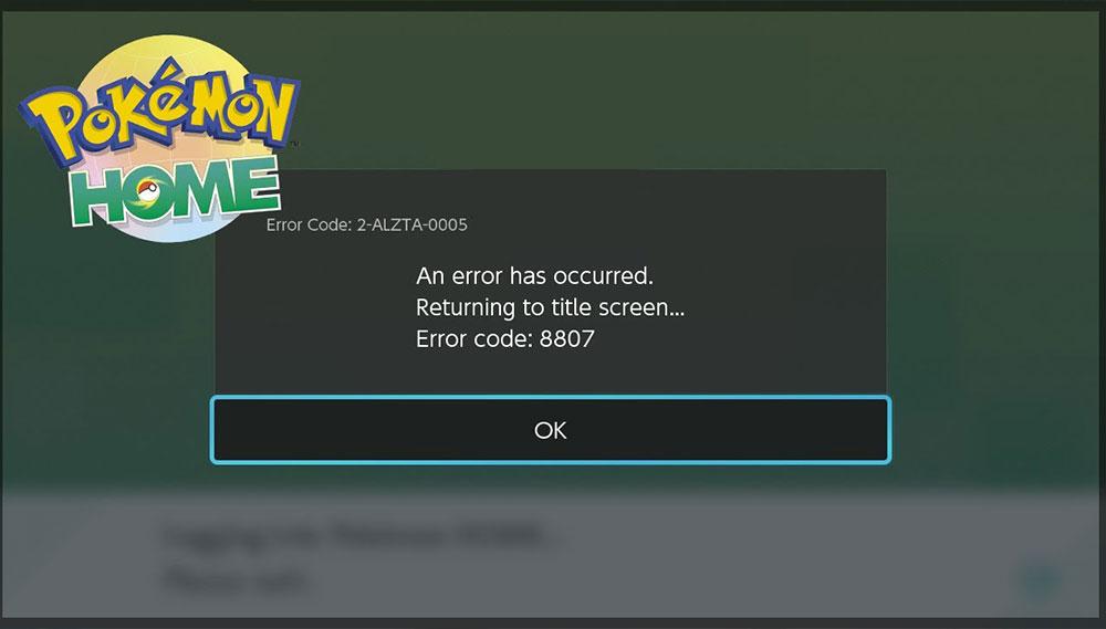 How to Fix Pokemon Home Error Code 8807