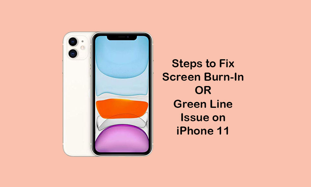 How to Fix Screen Burn-in and Green Line Problem on Apple iPhone 11