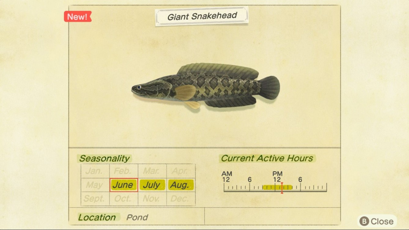 How to Catch a Giant Snakehead in Animal Crossing: New Horizons
