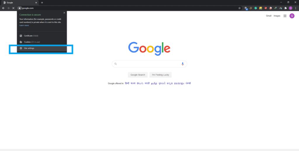 Cómo borrar cookies y caché para un sitio en el navegador Chrome
