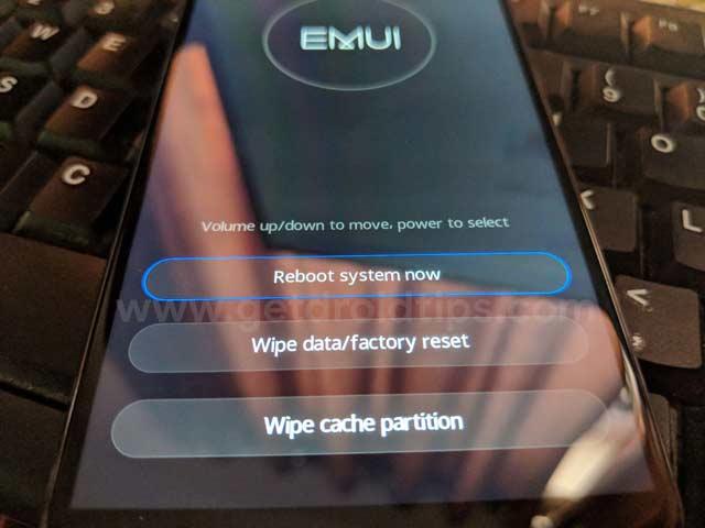 Modo de recuperación de Huawei