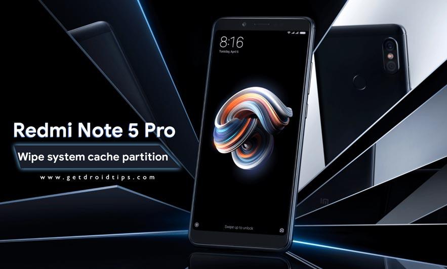 Cómo borrar la partición de caché del sistema en Redmi Note 5 Pro