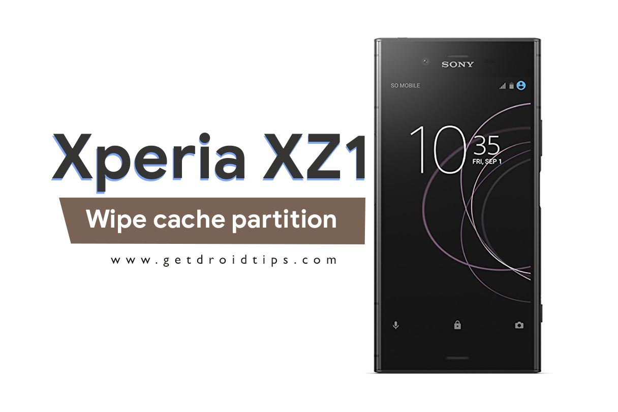 How to wipe cache partition on Sony Xperia XZ1