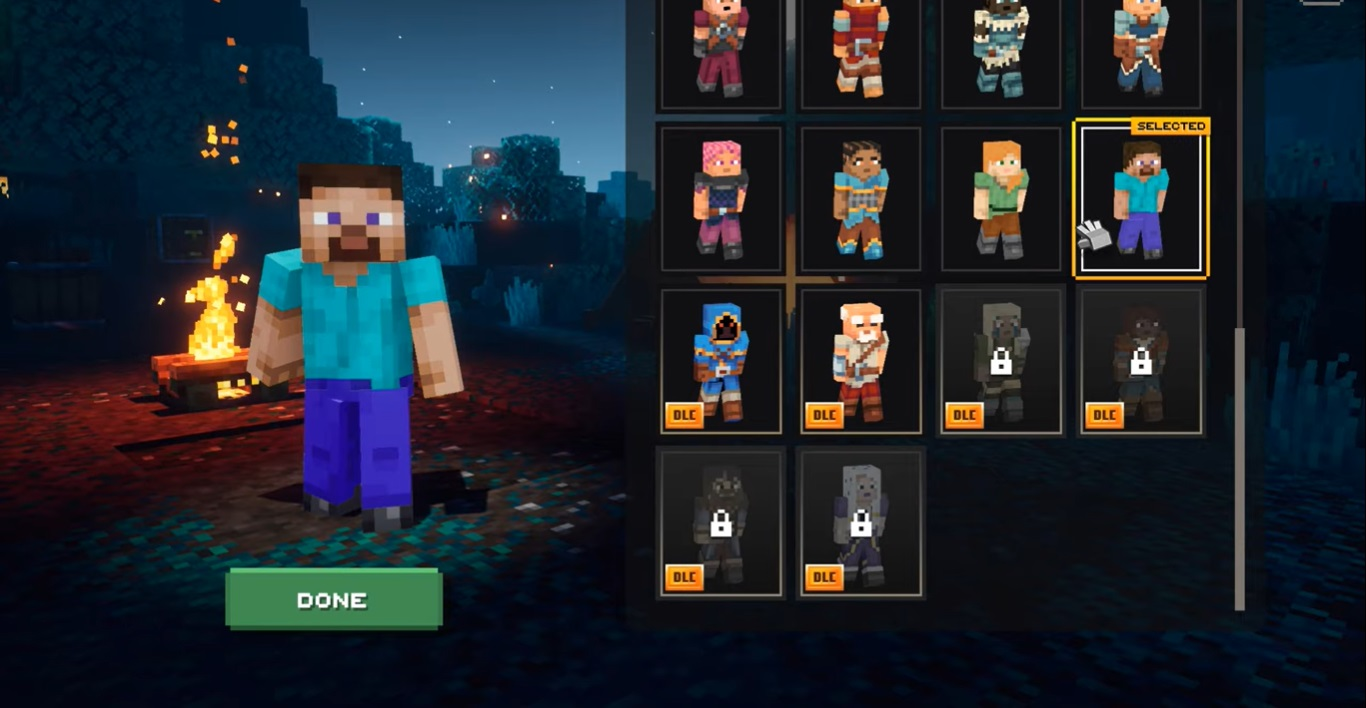 Change Character Appearance in Minecraft Dungeons - Switch Hero