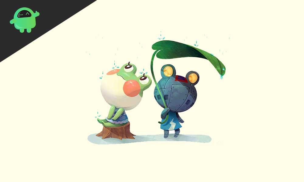 Frog in Animal Crossing New Horizons